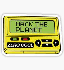 Hack den Planeten Sticker