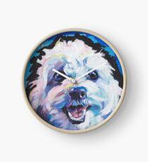 Fun Cavachon Dog bright colorful Pop Art Clock