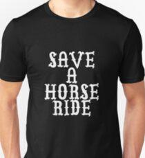 SAVE A HORSE RIDE A COWBOY BLACK TSHIRT T-Shirt