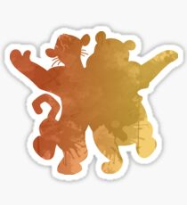 Tiger and bear Inspired Silhouette Sticker