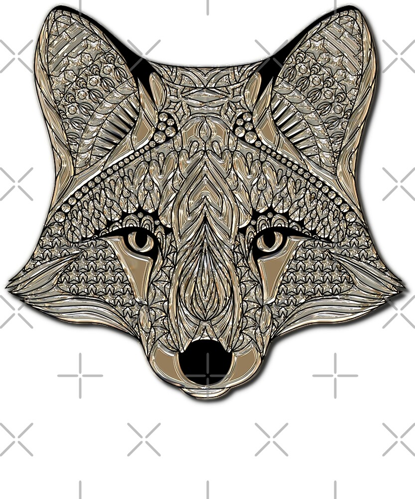 Metallic Abstract Fox Nature Wildlife Animal Lover Camping by twizzler3b