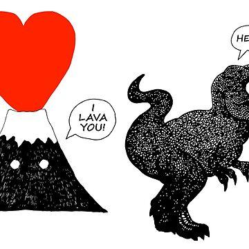 I Lava You T Rex by GwynplaineStuff