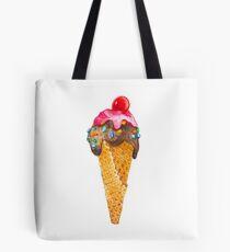 Watercolor Ice Cream Cone Tote Bag