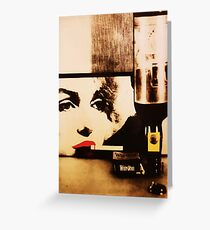Marylin smokes Winston Greeting Card