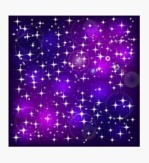 Blue violet bokeh abstract light background Photographic Print