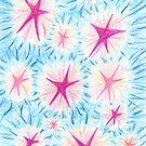 2205 - Rosa-rote und Pinke Sterne vor bläulichem Himmel von tigerthilo