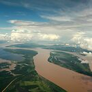The Meeting of the waters - Manaus Brazil by Alex Evans