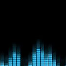 Blue Graphic Equalizer on black by PLdesign
