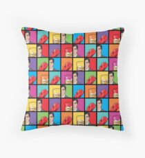 scotch & gummy bears pattern Throw Pillow