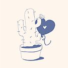 Cactus and Balloon Blue Purple by aevy