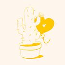 Cactus and Balloon Yellow by aevy