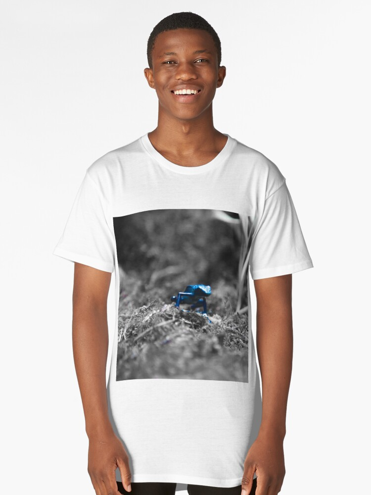 Poisonous blue frog Long T-Shirt Front