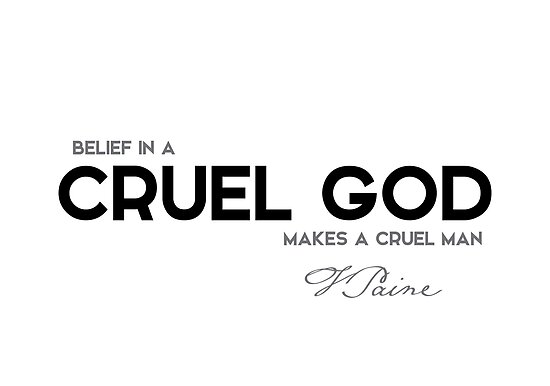 cruel god - thomas paine by razvandrc