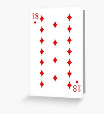 18 Diamonds Birthday Card Greeting Card