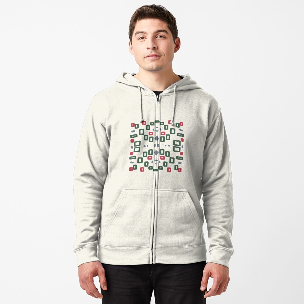 Rectangle space Zipped Hoodie