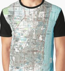 Fort Lauderdale Florida Map (1985)  Graphic T-Shirt
