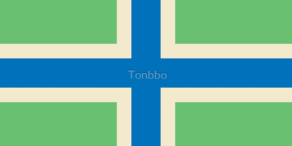 Flag of Gloucestershire, England by Tonbbo