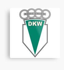 DKW Auto Union (Audi Vintage Logo), 1919-1969 Metal Print