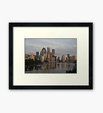 River city sunrise - Brisbane Framed Print