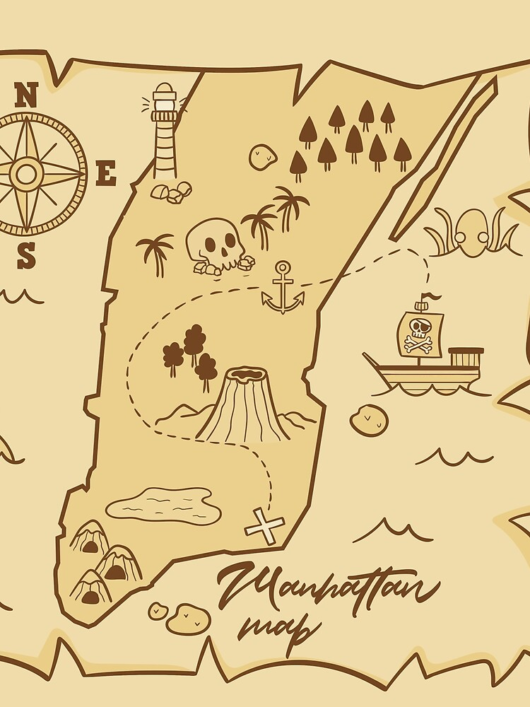 Manhattan Pirate Map by lerdi