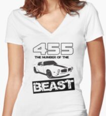 455 - The Number of the Beast Women's Fitted V-Neck T-Shirt