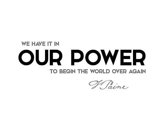 our power - thomas paine by razvandrc