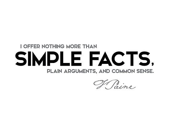 simple facts - thomas paine by razvandrc