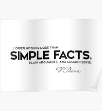 simple facts - thomas paine Poster