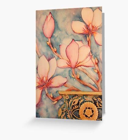 Magnolia In Vintage Vase II 'Still Life' © Patricia Vannucci 2008 Greeting Card