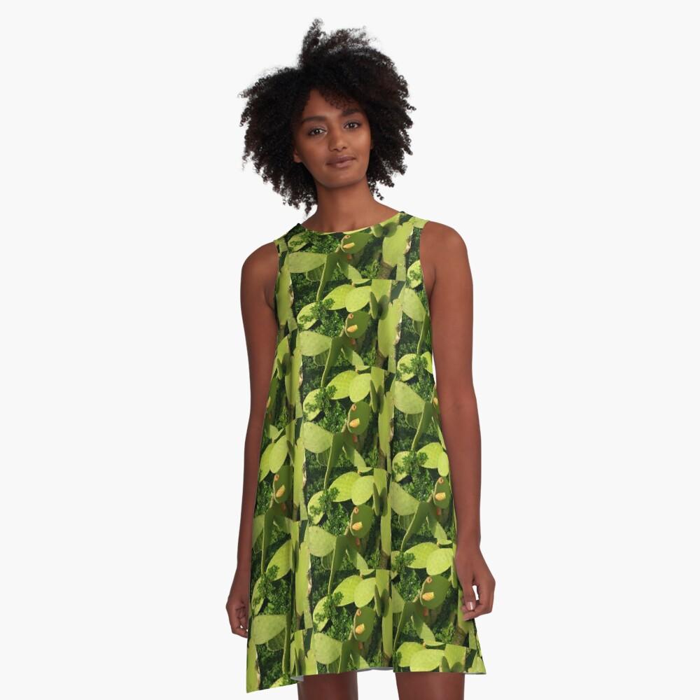 Cactus A-Line Dress Front