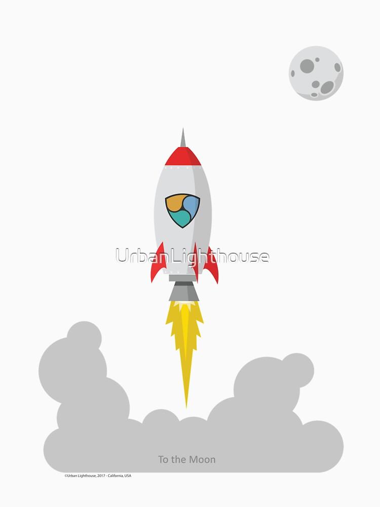 NEM XEM Rocket Spaceship CryptoCurrency  by UrbanLighthouse
