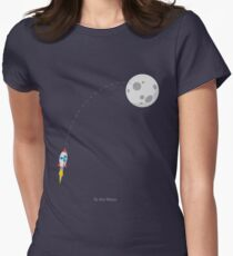 Ripple XRP Rocket Spaceship CryptoCurrency  Women's Fitted T-Shirt