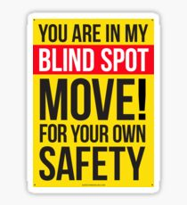 Truck Blind Spot sticker Sticker