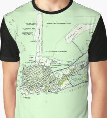 Vintage Map of Key West Florida (1943)  Graphic T-Shirt