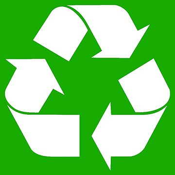 White Recycling Symbol  by Symbolical