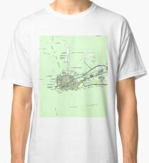 Vintage Map of Key West Florida (1943)  Classic T-Shirt