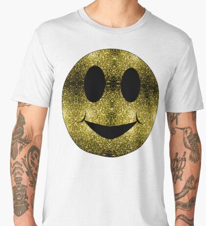 Sparkly Smiley Yellow Gold sparkles Men's Premium T-Shirt