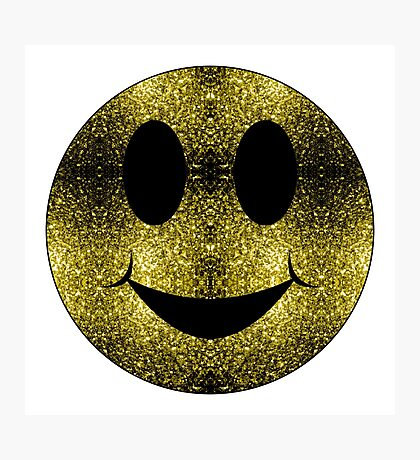Sparkly Smiley Yellow Gold sparkles Photographic Print