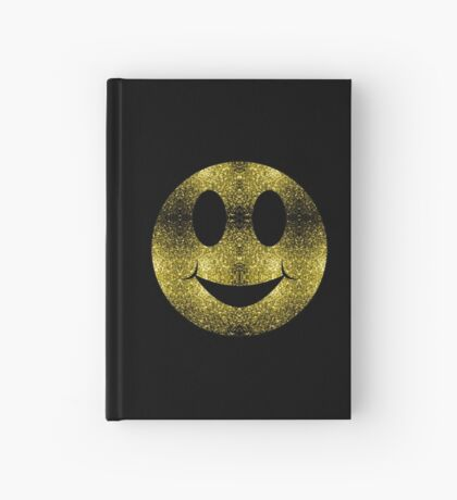 Sparkly Smiley Yellow Gold sparkles Hardcover Journal