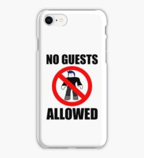 Roblox No Guests Allowed iPhone Case/Skin