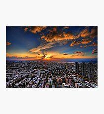 Tel Aviv, sunset time Photographic Print