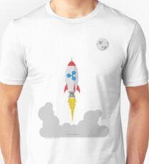 Ripple XRP Rocket Spaceship CryptoCurrency  Unisex T-Shirt