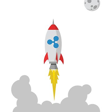 Ripple XRP Rocket Spaceship CryptoCurrency  by UrbanLighthouse