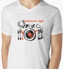 Voracious for Vinyl Mens V-Neck T-Shirt