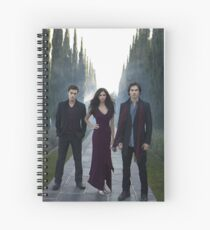 Elena, Damon and Stefan - The Vampire Diaries - Season 1 - Promotional Poster  Spiral Notebook