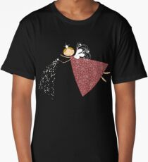 Whimsical Magical Snowflakes Fairy Long T-Shirt