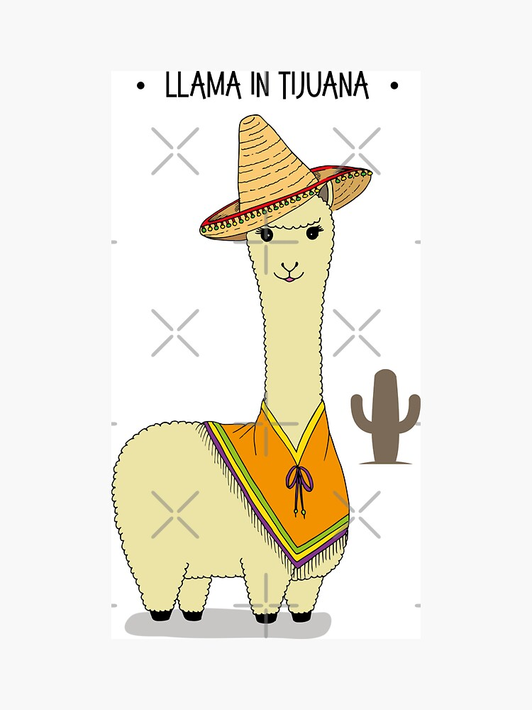Cute Funny Llama in Tijuana by HotHibiscus