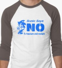 Sonic the Hedgehog - Sonic Says NO To fascism and racism! T-Shirt
