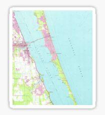 Vintage Map of Melbourne Florida (1949)  Sticker