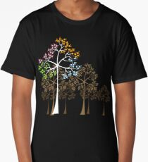 Colorful Four Seasons Trees Long T-Shirt